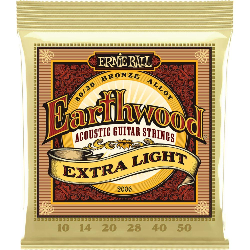 Encordoamento Violão Ernie Ball Earthwood 80/20 Bronze 010