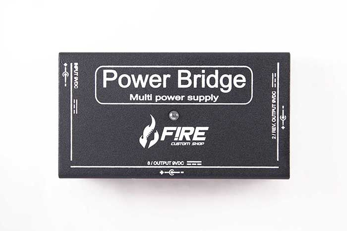 Fonte Fire Custom Shop Power Bridge 9v Preta P/ 10 Pedais
