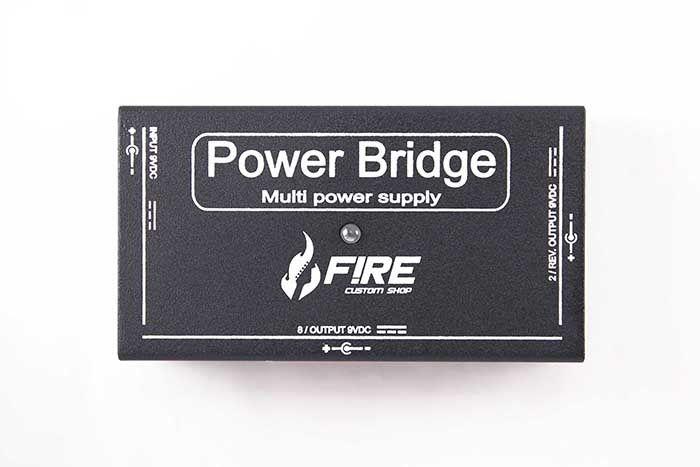Fonte Fire Custom Shop Power Bridge 9v Preta P/ 10 Pedais