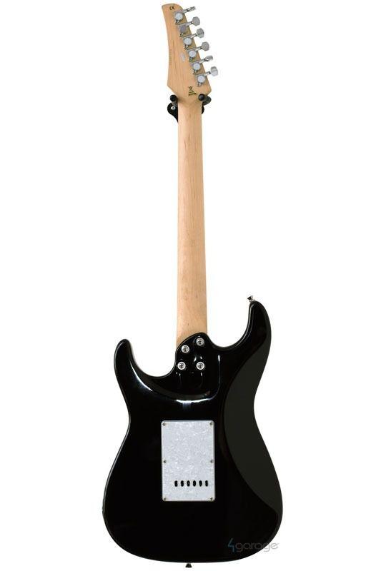 Guitarra Strato Seizi Vision Black com escudo White Pearl
