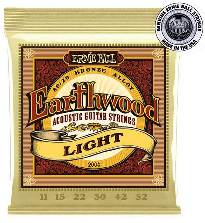 Kit 3sets Encordoamento Violão Ernie Ball Earthwood 80/20 Bronze 011