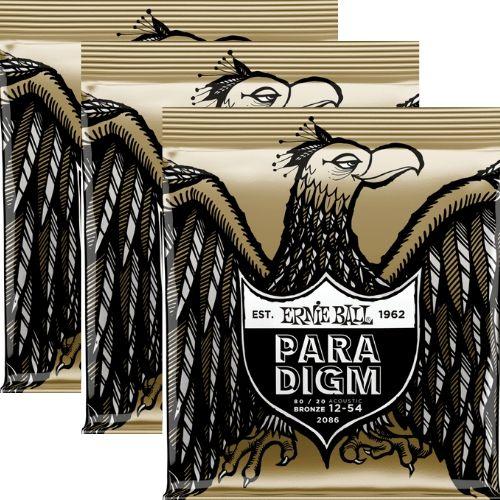 Kit 3sets Encordoamento Violão Ernie Ball Paradigm 012/054
