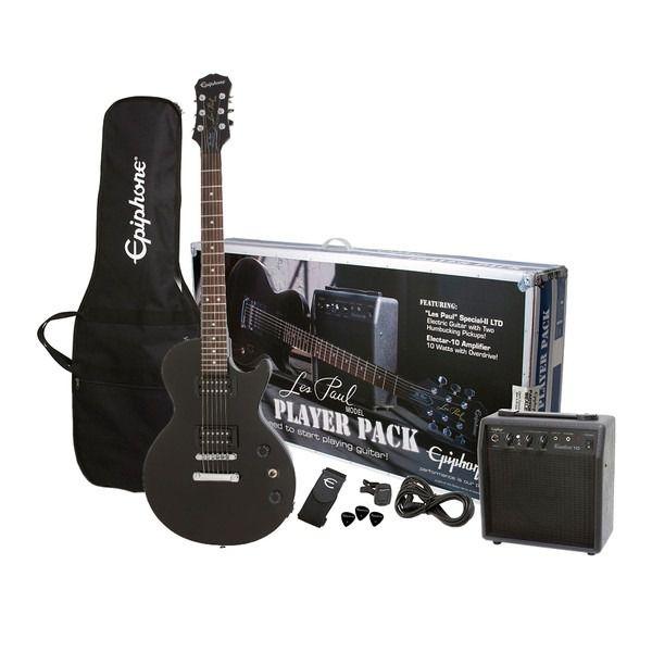 Kit Guitarra Epiphone Les Paul Player Pack Black