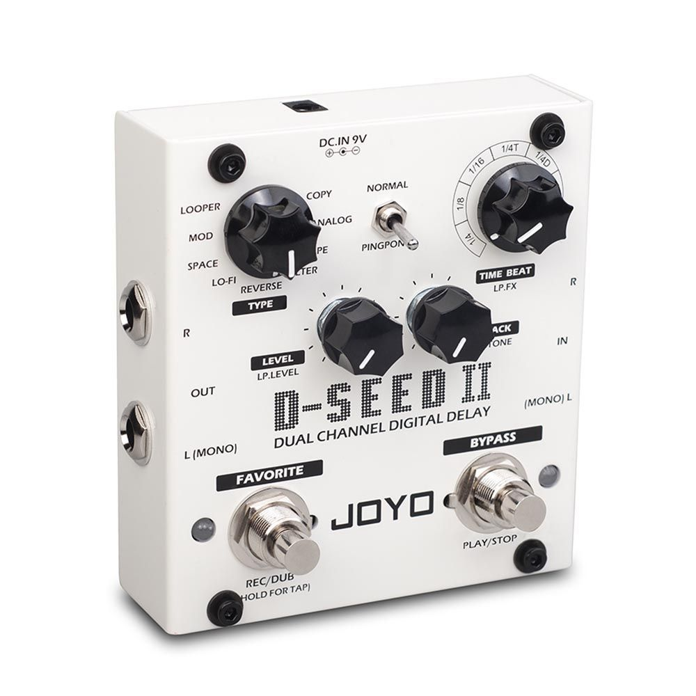Pedal Joyo D-seed 2 Dual Channel Digital Delay Looper Tap