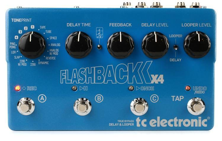 Pedal Tc Electronic Flashback X4 Delay & Looper