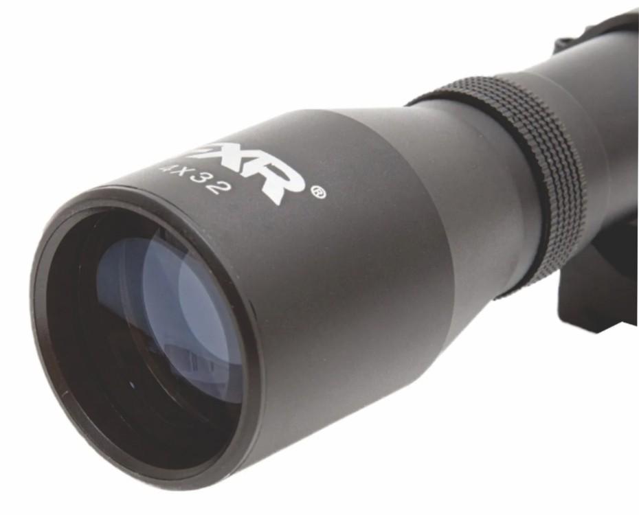 Carabina de Pressão Hatsan PCP Bullpup Flashpup 12 tiros Polimero 5,5mm com Bomba e Luneta 4x32 Mount único