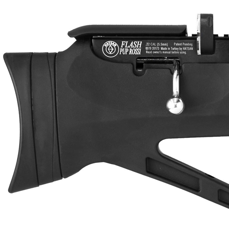 Carabina de Pressão Hatsan PCP Bullpup Flashpup 12 tiros Polimero 5,5mm c Luneta 4x32 Mount único