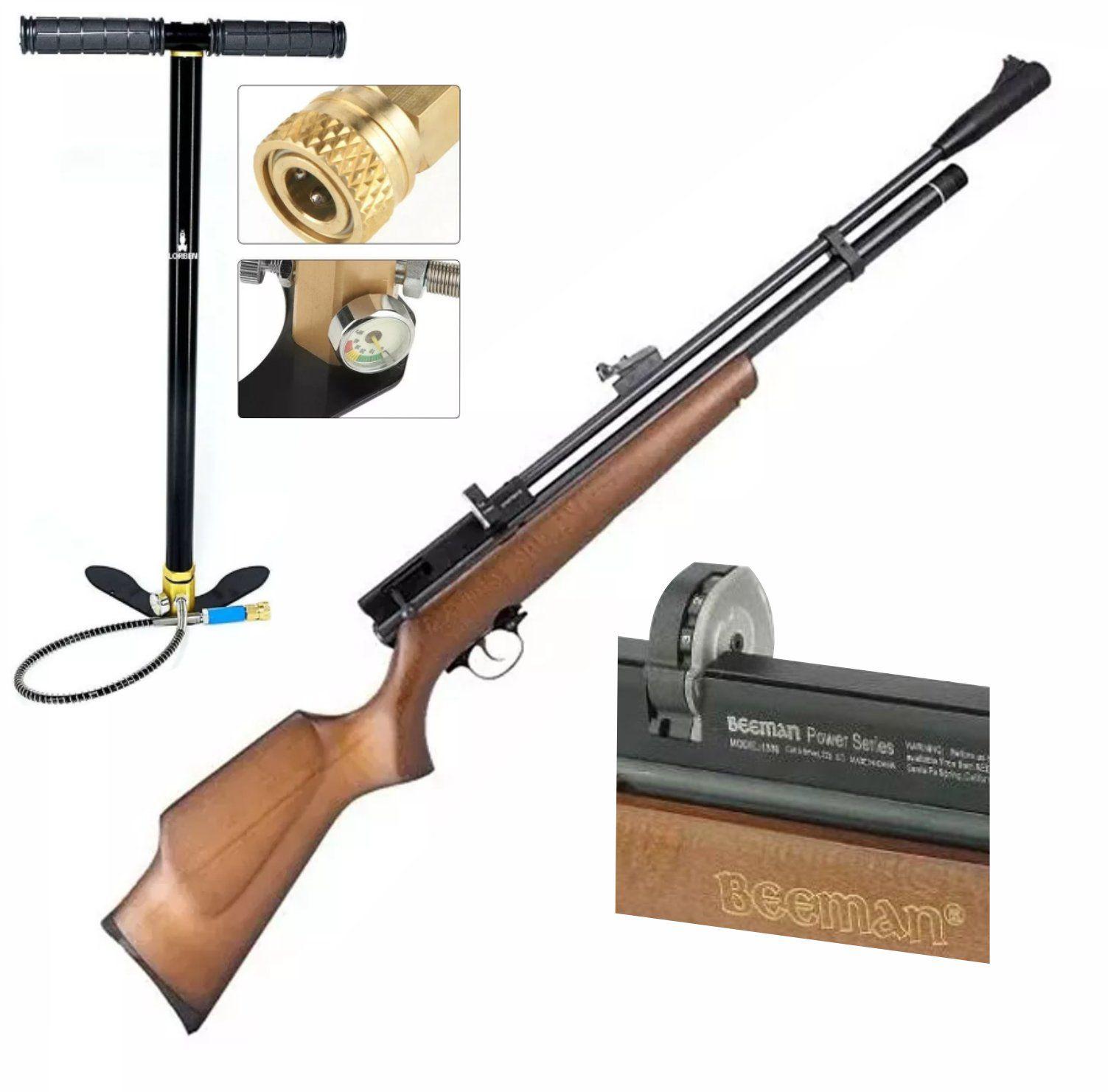 Carabina PCP Beeman 1338  10 tiros 5,5mm 1+ Bomba FIXXAR