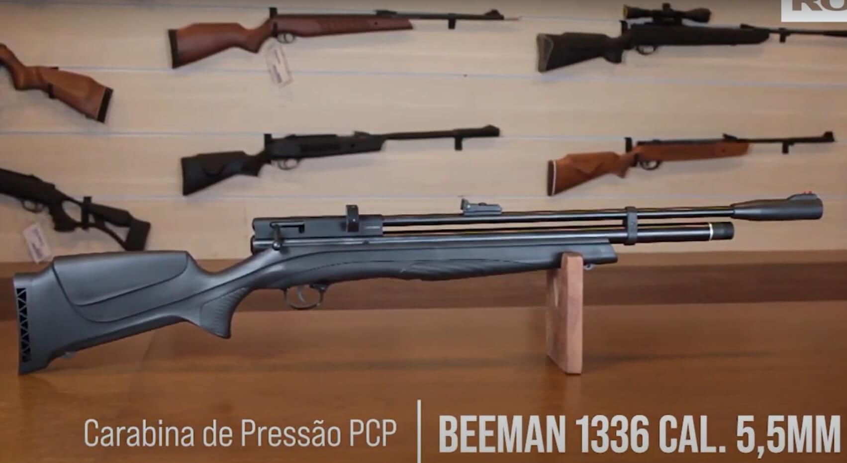 Carabina PCP Beeman 1336 POLIMERI 10 tiros 5,5mm 1+ Bomba ROSSI