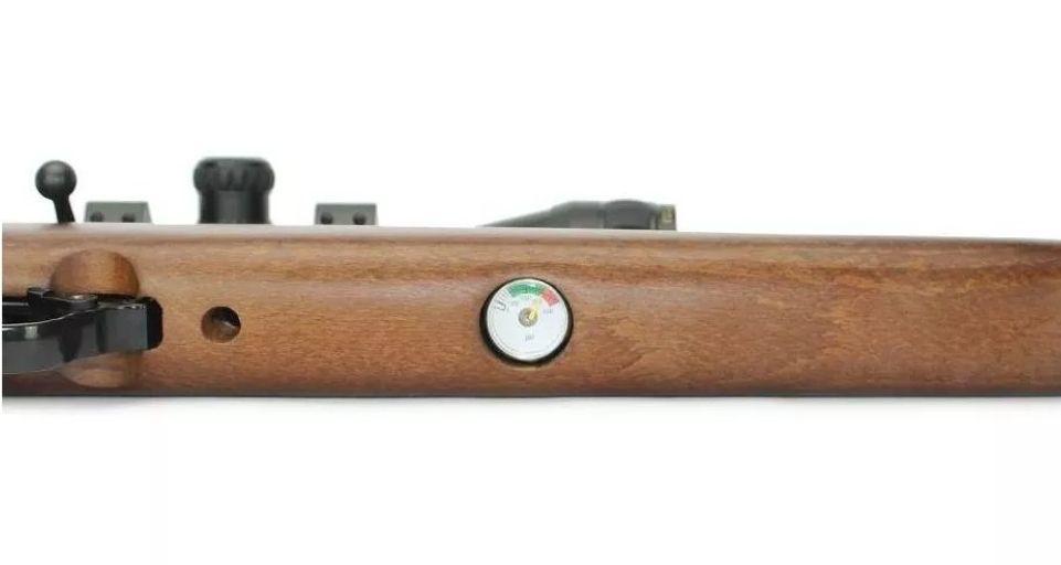 Carabina PCP Beeman 1338 QB Chief II PLUS madeira 10 tiros 5,5mm