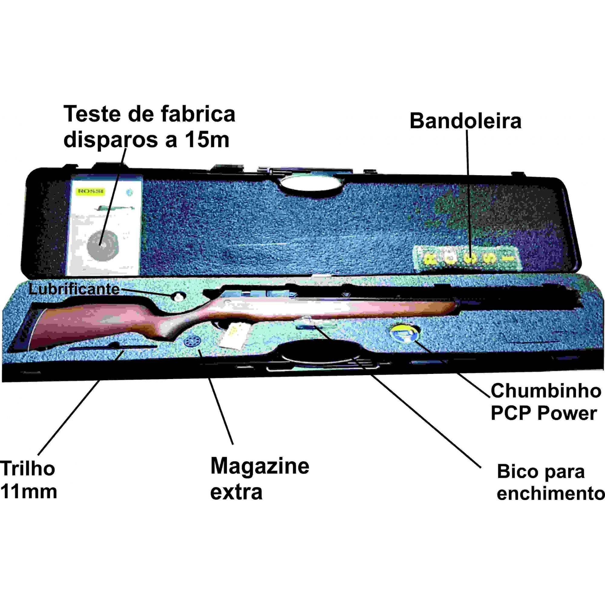 Carabina PCP R8 Rossi Semiautomatica 5,5mm Coronha Recartilhada