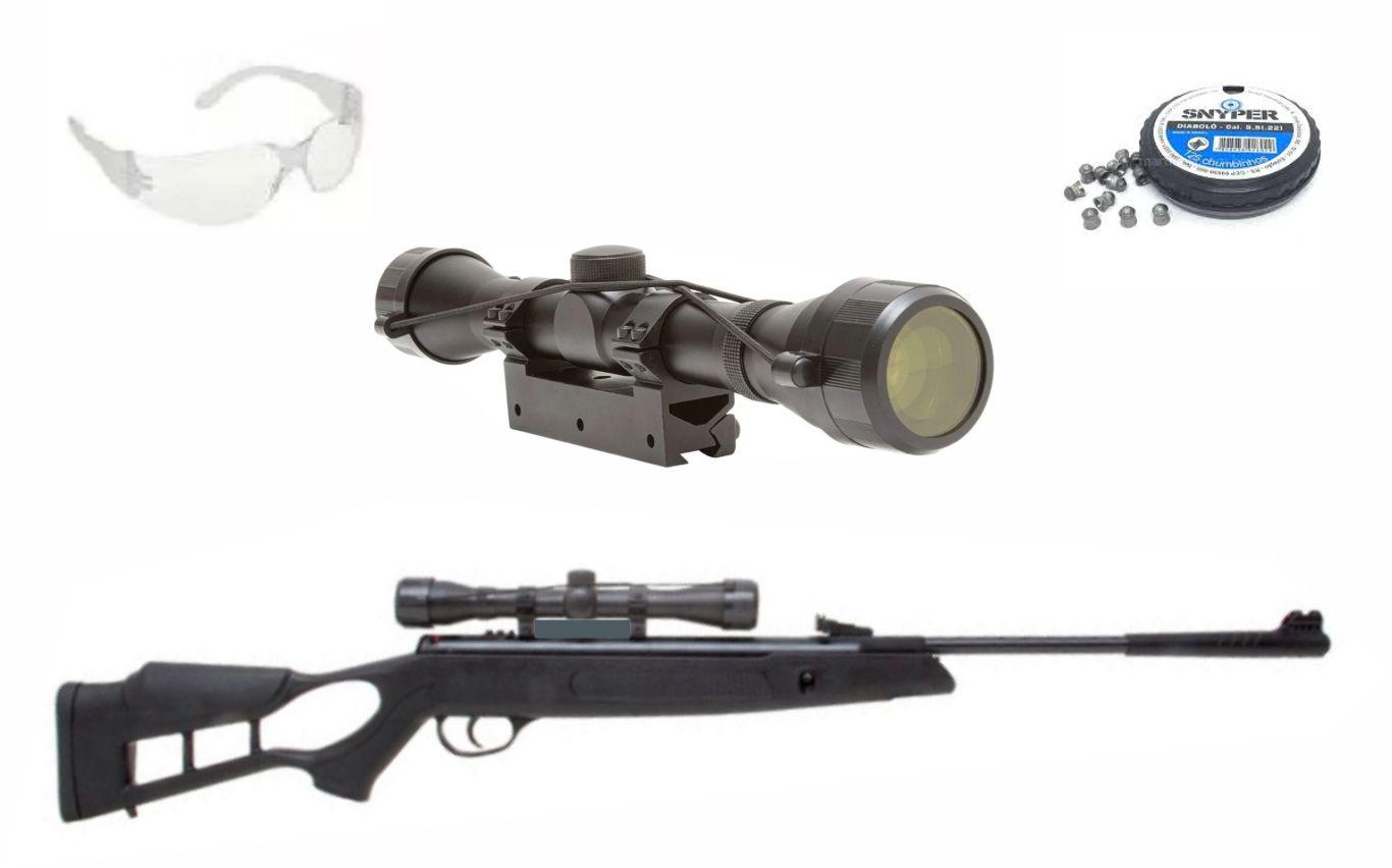 Carabina Striker Edge 5,5 GR 60kg com luneta 4x32 mount unico