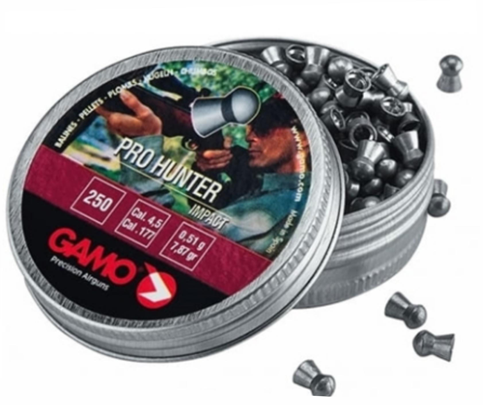 Chumbinho Gamo Pro Hunter 4.5mm - Latinha c/ 250 unidades