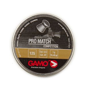 Chumbinho Gamo Pro Match 5.5mm - Latinha c/ 125 unidades
