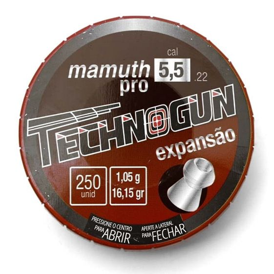 Chumbinho Mamuth  5,5mm Tecnogun 250 unid