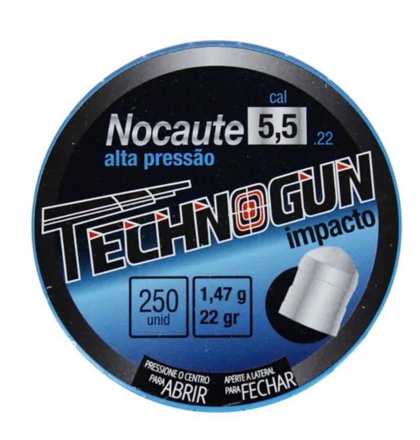 Chumbinho Nocaute Tecnogum 5.5mm - 250 und