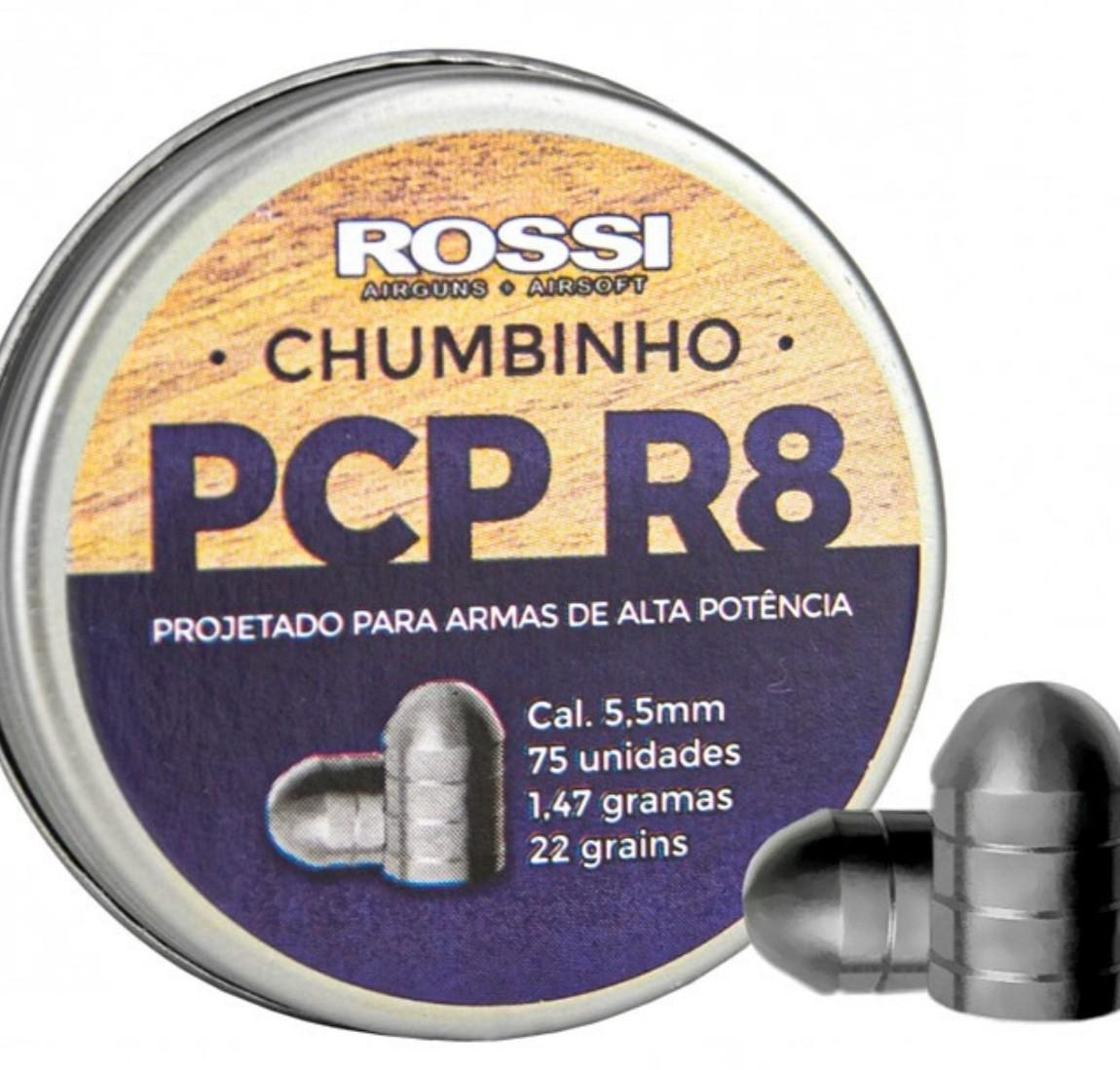 Chumbinho R8 Rossi - Cal 5.5mm (75UN) Alta potencia