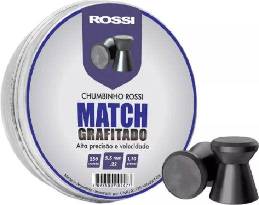 Chumbinho Rossi Mach Grafitado 5,5 250 unid