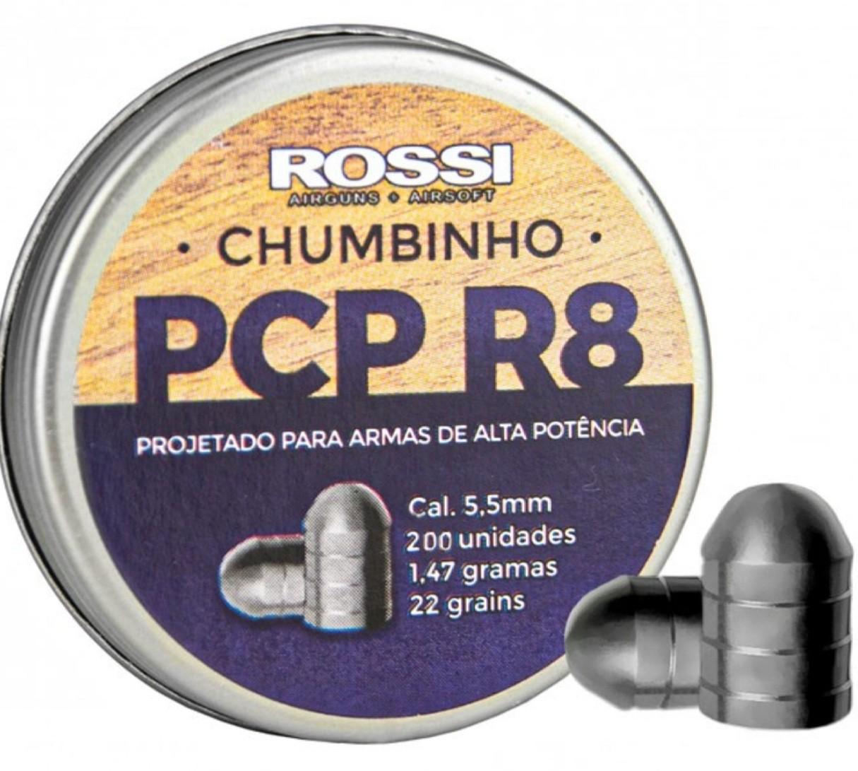 Chumbinho  R8 Rossi Alta Potência 5.5mm - 200un