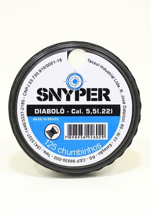 Chumbinho Snyper 5,5mm c/ 125 un