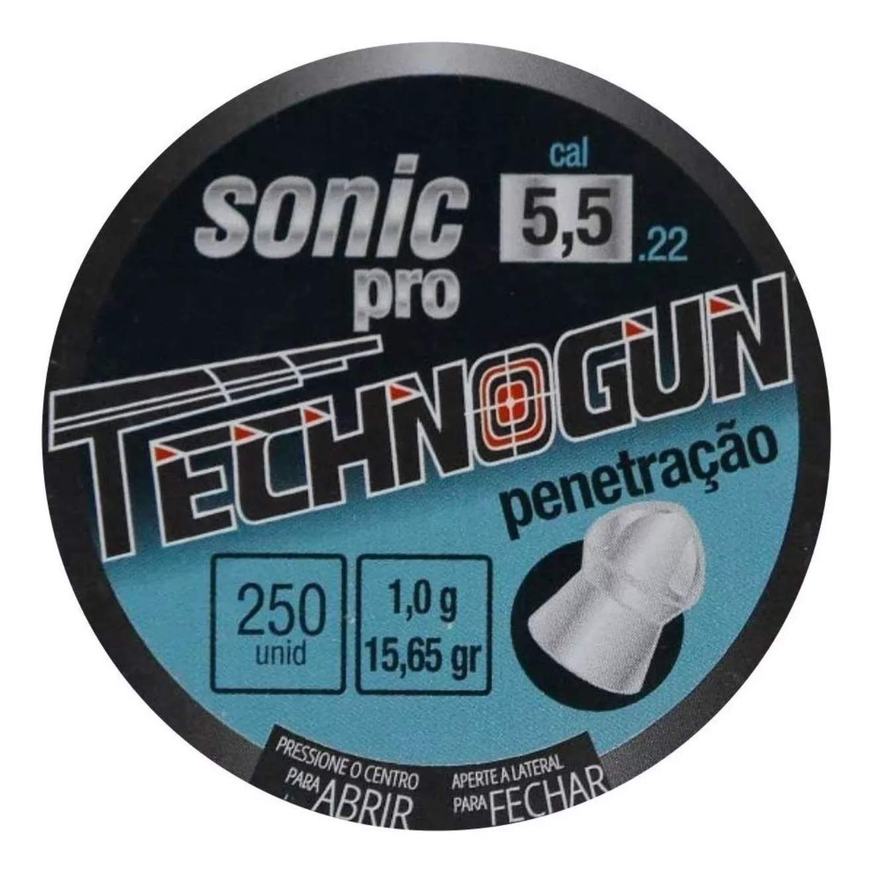 Chumbinho Sonic Pro Tecnogum 5.5mm - 250 und