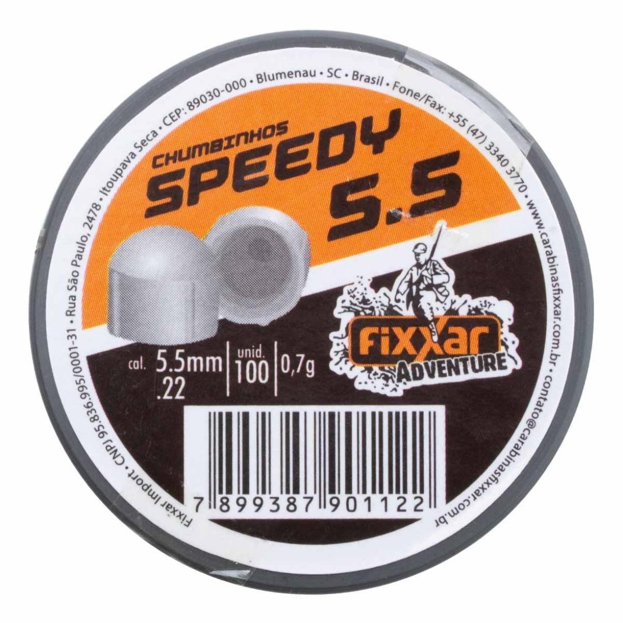 Chumbinho Speedy 5.5mm com 100 unidades