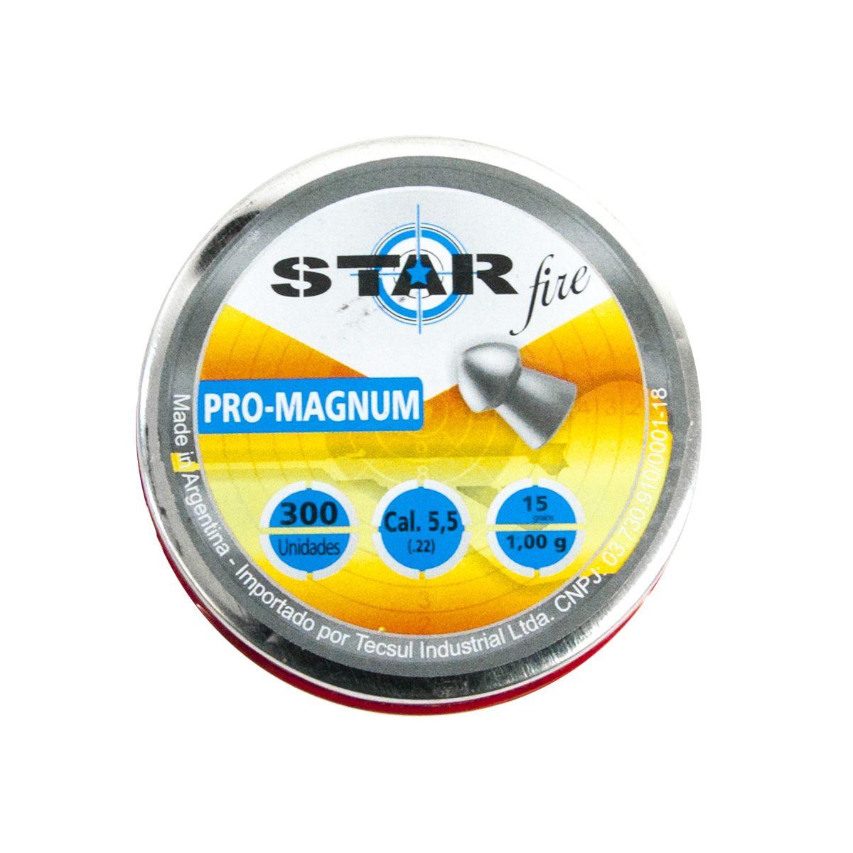 Chumbinho Star Fire Pro Magnum 5,5mm cx 300 unidades