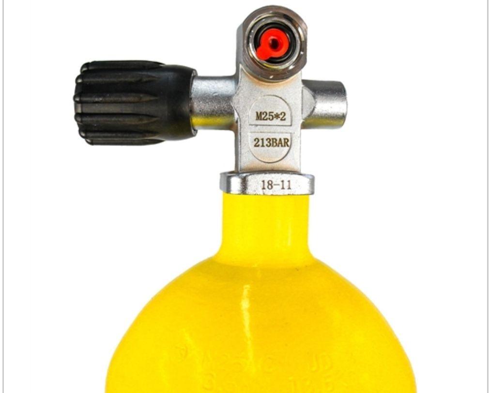 Cilindro Scuba de Alta Pressão 216 BAR 10L Completo com Adaptador de Recarga Yoke