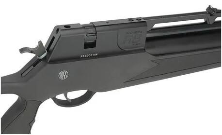 Combo Carabina PCP R8 Black Rossi Semiautomatica 5,5mm com Bomba luneta 4x32 e supressor