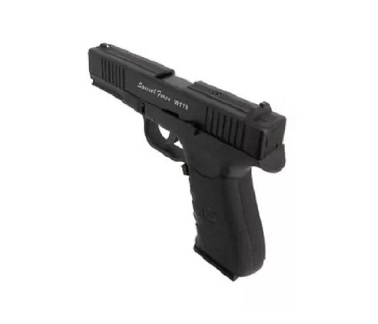 Combo Pistola CO2 WG W119 Versão Glock