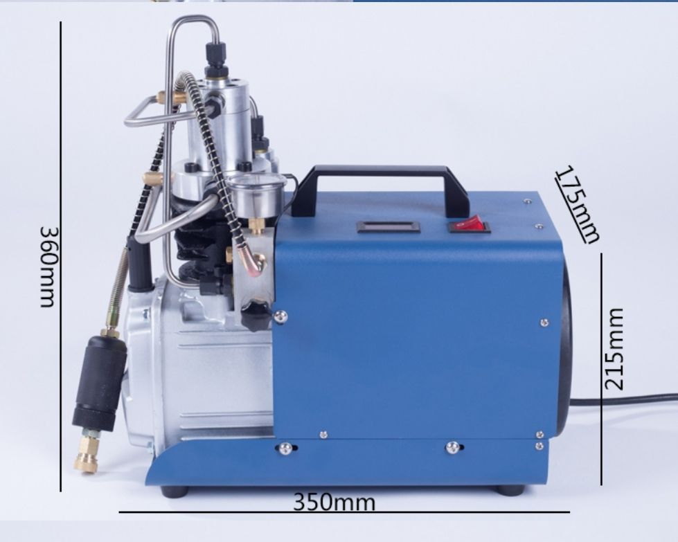 Compressor para PCP e Cilindros de Scuba 220V  pressão 4500PSI 300Bar 30MPA