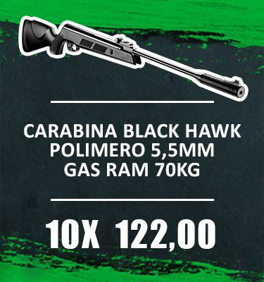 Consórcio - Carabina Black Hawk Polimero 5,5mm Gas ram 70kg