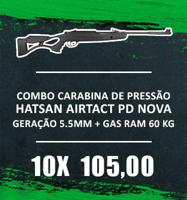 Consórcio - Carabina de Pressão Hatsan Airtact PD Nova Geração 5.5mm Gas Ram 60 kg