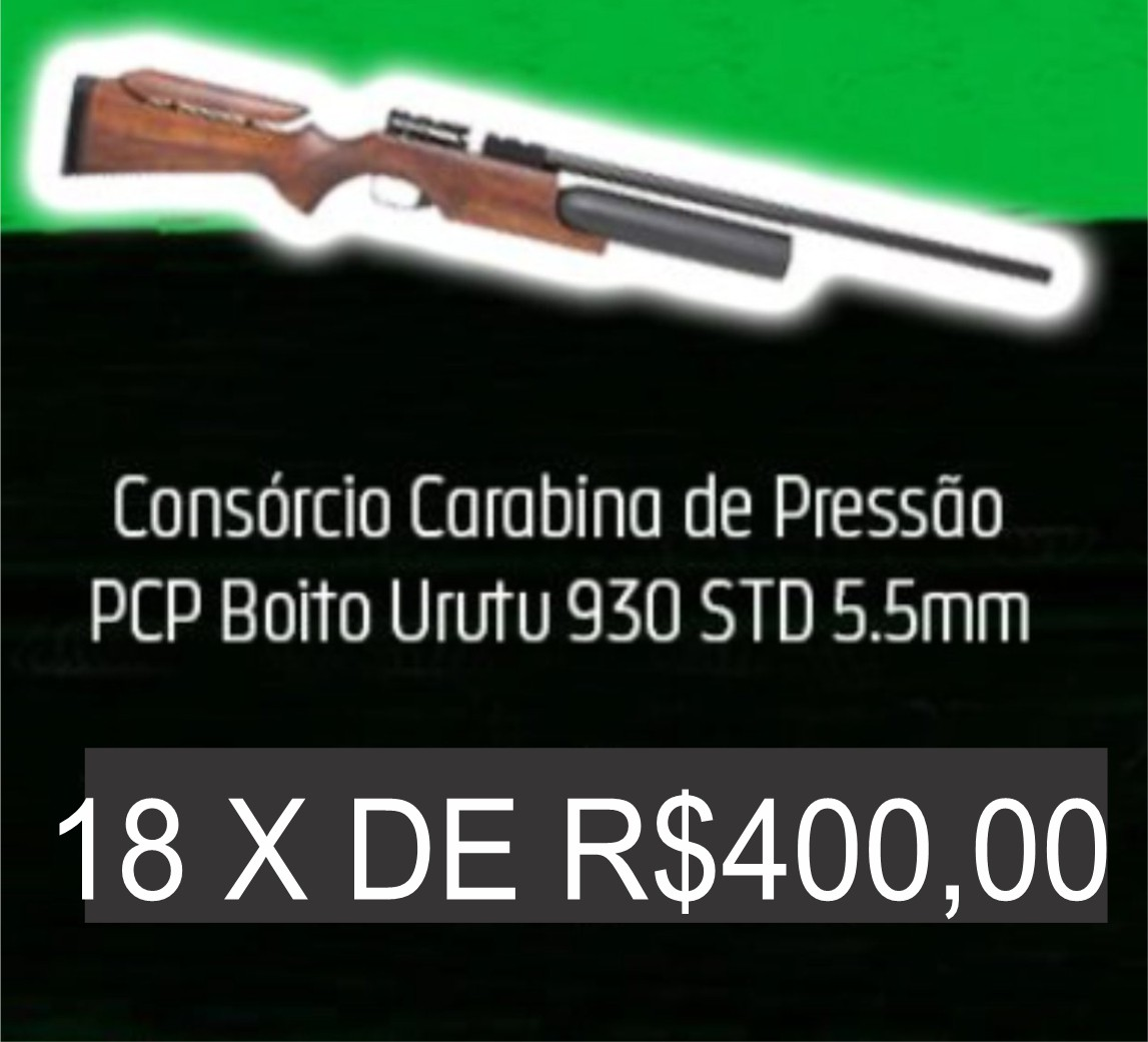 Consórcio - Carabina de Pressão PCP Boito Urutu 930 STD 5.5mm 18X