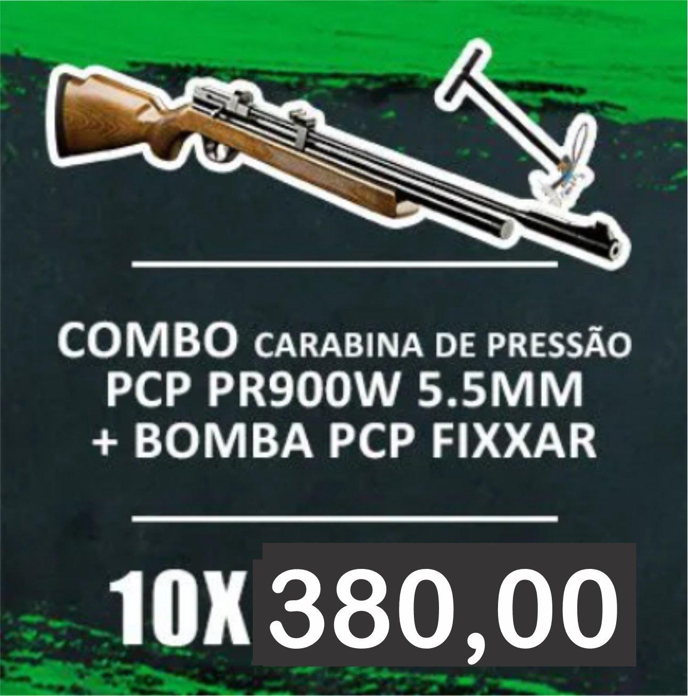 Consórcio - Carabina De Pressão Pcp Pr900w 5.5mm + Bomba PCP FIXXAR