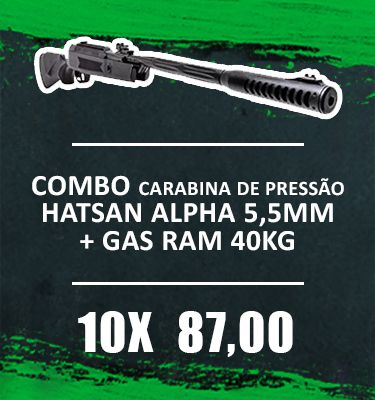 Consórcio - Carabina Hatsan Alpha 5,5mm gas ram 40kg + FRETE