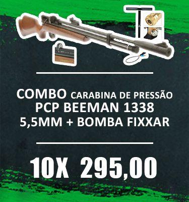 Consórcio - Carabina PCP Beeman 1338  10 tiros 5,5mm 1+ Bomba FIXXAR