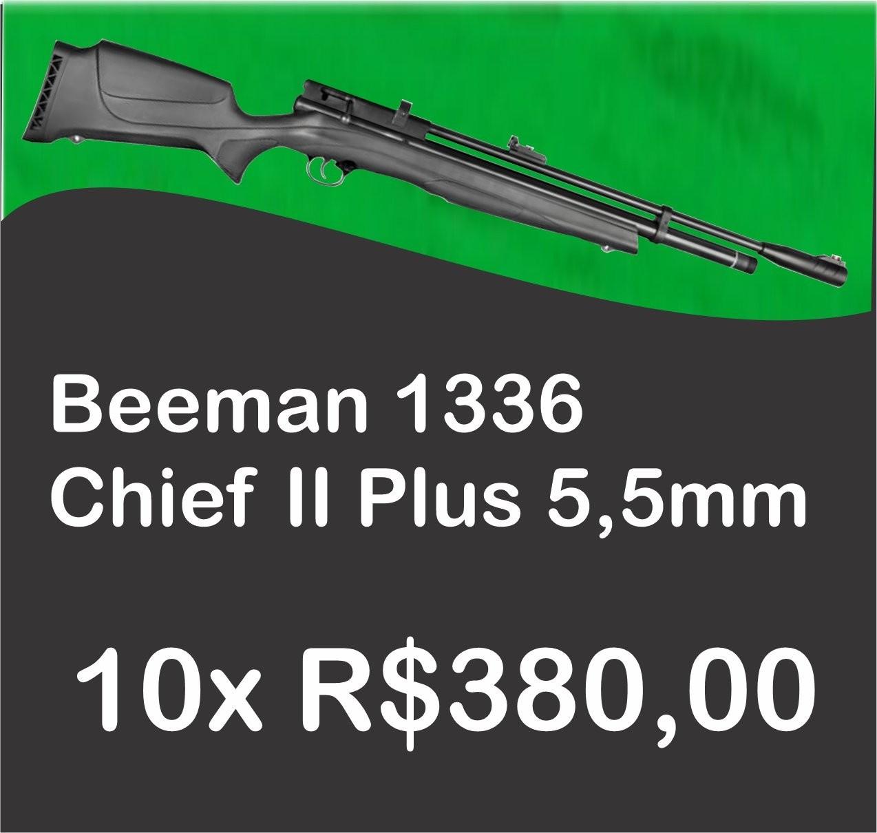 Consórcio - Carabina PCP Beeman 1336 QB II PLUS Chief POLIMERO 10 tiros 5,5mm