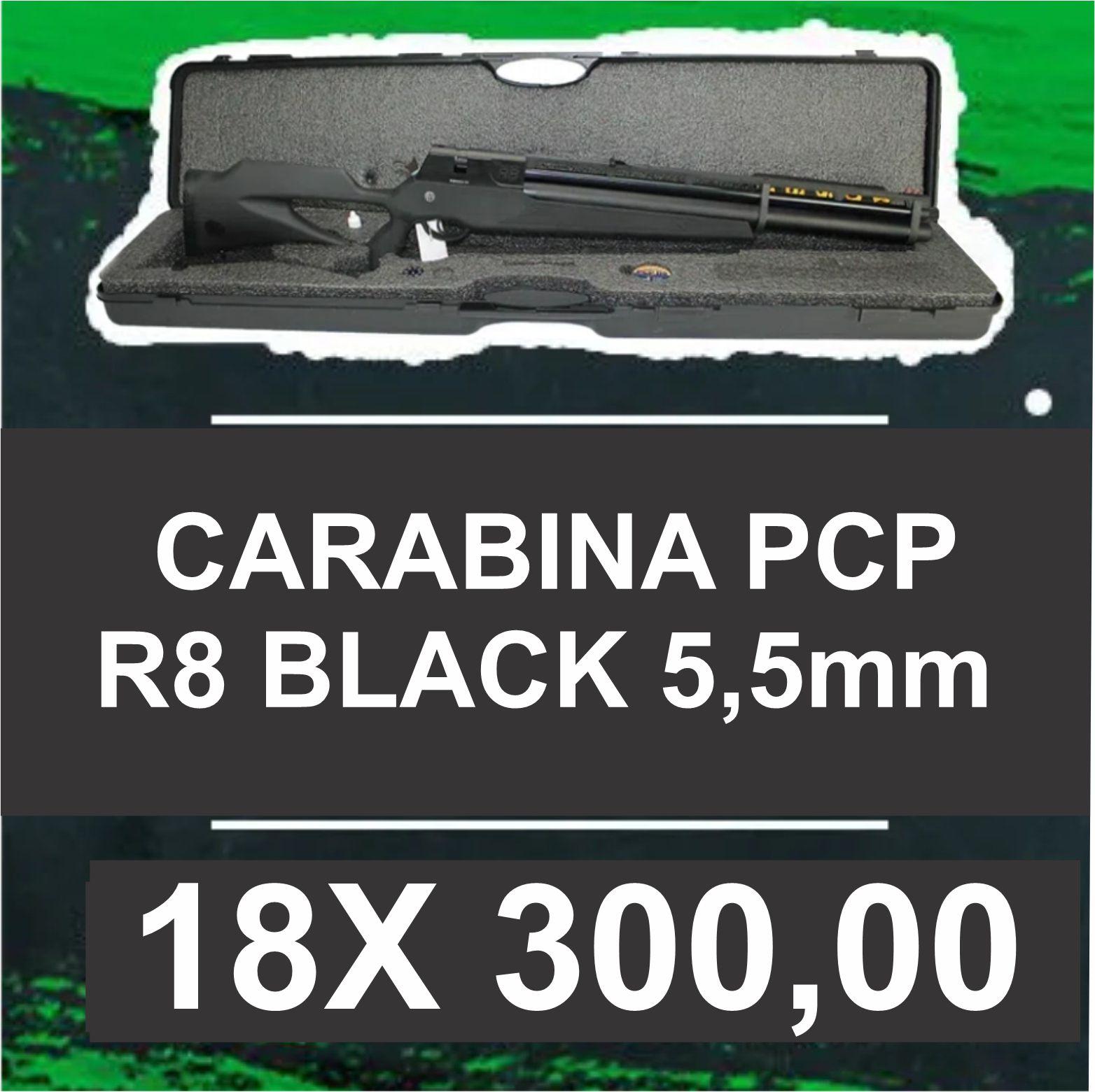 Consórcio - Carabina PCP R8 Black 5,5mm18x
