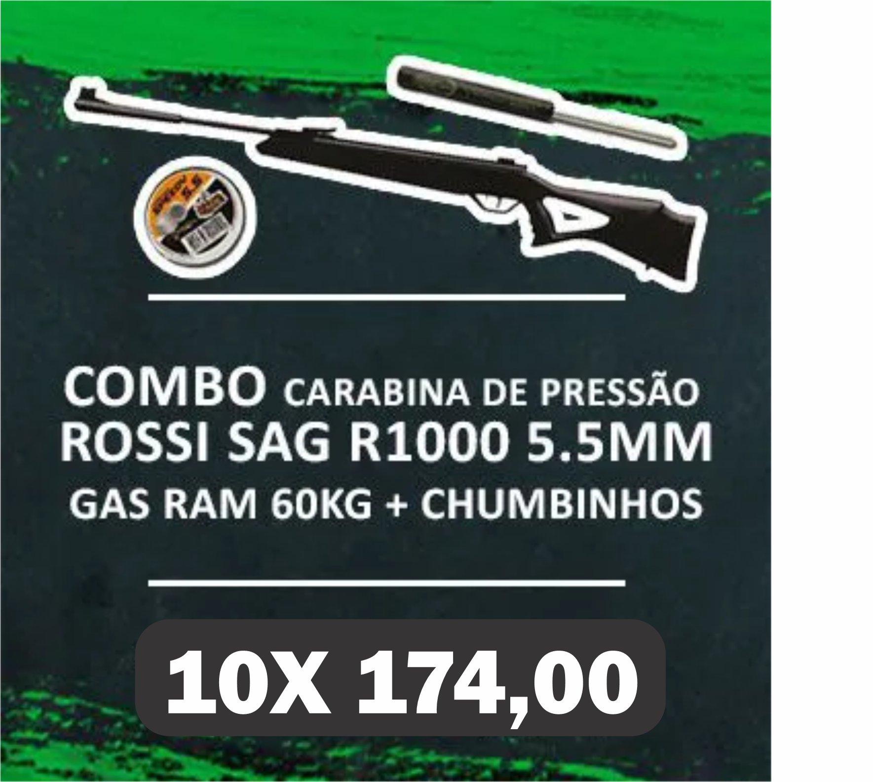 Consórcio - Carabina Rossi SAG R1000 5.5 gas ram 60kg