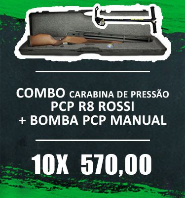 Consórcio - Combo R8 Rossi + bomba PCP manual 10x