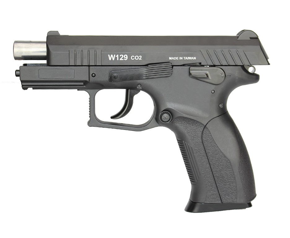 Consorcio - Pistola de Pressão CO2 Win Gun CZ300 W129 Slide Metal 4.5mm BlowBack