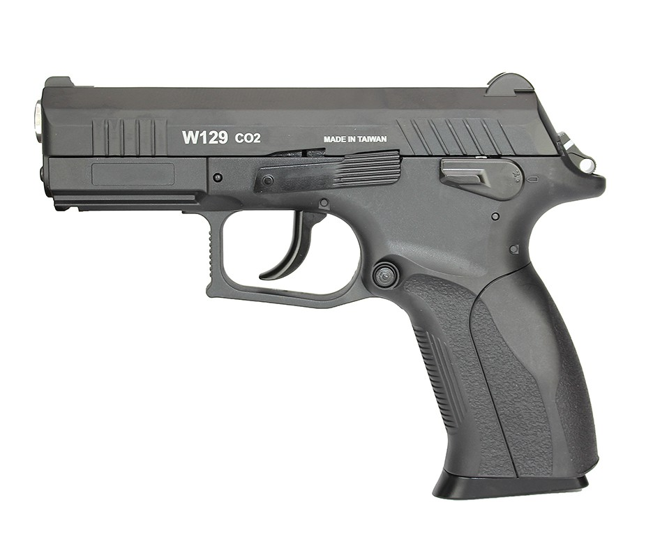 Consorcio - Pistola de Pressão CO2 Win Gun CZ300 W129 Slide Metal 4.5mm BlowBack