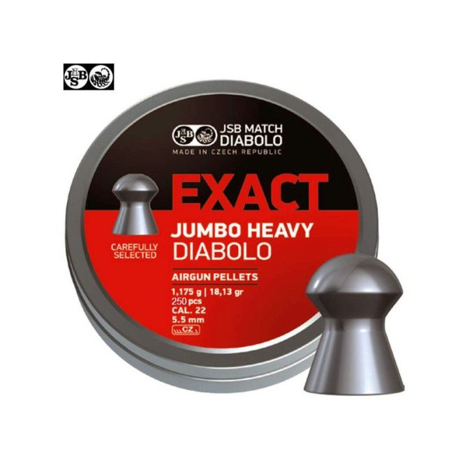 JSB EXACT JUMBO HEAVY 250pcs calibre 5.52mm