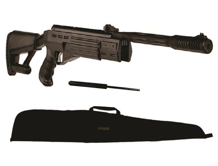 kit Carabina Airtatic Gas Ram 60kg  5,5 e  Case 1,30m
