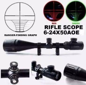 Luneta Riflescope 6x24x50 Aoeg - Paralax - Mildot