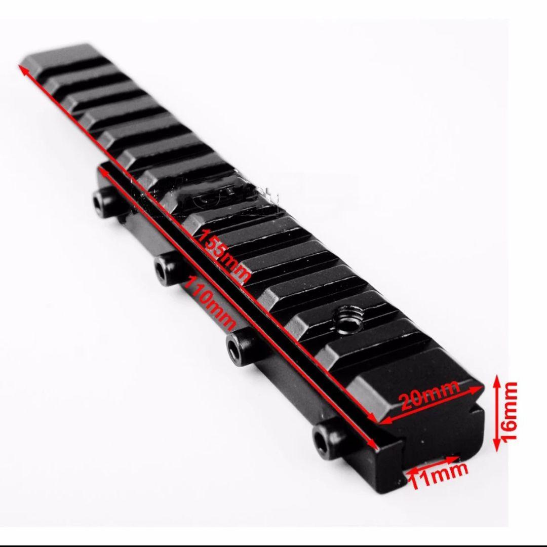 Mount adaptador elevador de trilhos de 11mm para 20mm,