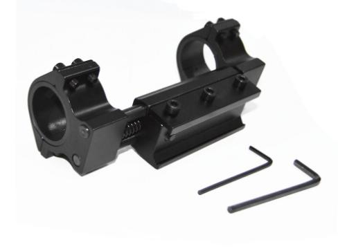 Mount anti impacto trilho 22mm para lunetas  com tubo 25 e 30mm