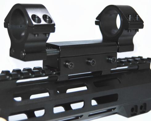 Mount anti impacto trilho 22mm para lunetas  com tubo  30mm
