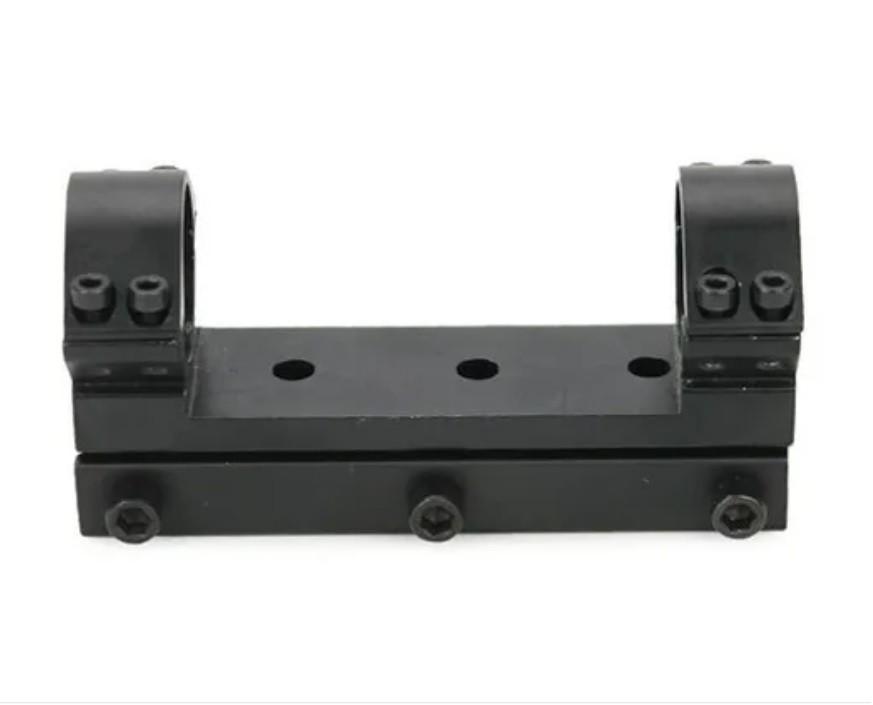 Mount unico trilho 11mm para lunetas tubo 25mm